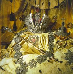 The Imperial Coronation robe and Crown Jewels of Russia
