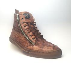 "Mauri ""Sienna"" Alligator Sneakers 8664"