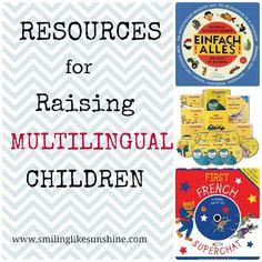 Do you raise bilingual/multilingual kids? Here are our favorite Resources for Raising Multilingual Children #ece #preschool #Montessori