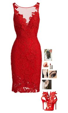 """Fancy Party"" by miahallows on Polyvore featuring ML Monique Lhuillier, Embers Gemstone Jewellery, Giuseppe Zanotti, Incoco and Ilia"
