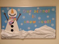 "Winter bulletin board-Or ""Reading is Snow Cool!"""