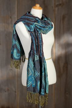 Luxuriously warm and vibrant, our shawl-style scarf energizes your look with color, texture, and pizzazz. Free shipping   returns.