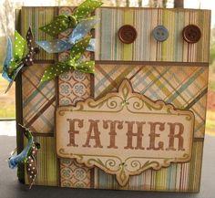 *FATHER* Chipboard Album Mini Albums, Mini Photo Albums, Mini Scrapbook Albums, Scrapbook Cards, Scrapbook Layouts, Mini Photo Books, Mini Books, Scrap Books, Book Making