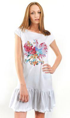 Moda Folk :: Odzież i biżuteria :: Sukienki i spódnice :: Bawełniana sukienka z orłem