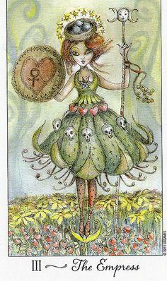 Awesome Empress from the Joie de Vivre Tarot deck!