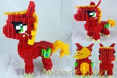 3D My Little Pony Perler Big Mac by Perler-Pony on deviantART