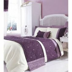 Buy Catherine Lansfield Home Fine Luxury Collection Lois runner Mauve from our Bedspreads, Blankets & Throws range - Tesco.com