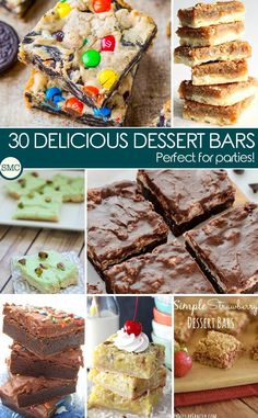 Oh these dessert bars will be perfect for a party. Click on the image to see all the recipes!