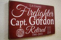 Firefighter Retirement Fireman Retirement Firefighter by Herosigns