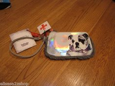 Fuzzynation fuzzy nation dog wristlet wallet change purse coin puppy bulldog NEW