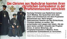 Die Christen aus Nadschran konnten ihren christlichen Gottesdienst in der Prophetenmoschee verrichten