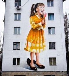 #Streetart: new piece by #SashaKorban in #Kiev