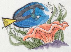 Tropical Blue Tang Sketch