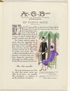 Art - Goût - Beauté, Feuillets de l' élégance féminine, Février 1926, No. 66, 6e Année, p. 9, Charles Goy, Jacques Doucet, Martial et Armand, 1926