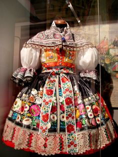 "traditional Czech dress - actually a national costume from Moravia, ""Kyjovsky kroj"""