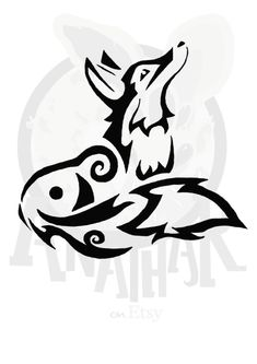 This is a cute little fox tattoo I designed.
