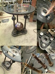 Steampunk Style Ideas for Home Decor Steampunk Home Decor, Steampunk Furniture, Steampunk House, Steampunk Design, Steampunk Diy, Car Part Furniture, Metal Furniture, Industrial Furniture, Cool Furniture