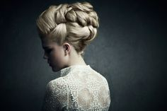 formal hair style, updo