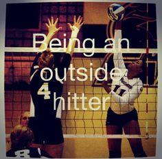 Outside hitter in volleyball @mnkmckenna @carleeschramm @babyboo27