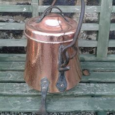 Tripod copper cauldron