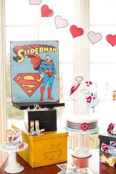 Super Hero Valentine's Day Valentine's Day Party Ideas | Photo 1 of 136