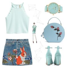 """""""So chic"""" by griselia-miranda on Polyvore featuring Gucci, Valentino and Jayson Home"""
