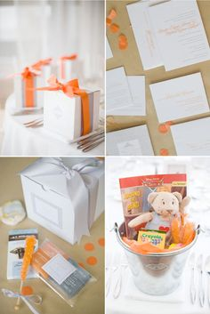 Orange and Silver Wedding Color Inspiration