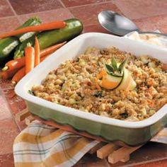 Chicken Zucchini Casserole - one dish supper! Just serve with a salad.