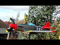 P51d mustang whirligig in Tuskegee airman colours hand crafted by stephen ball UK