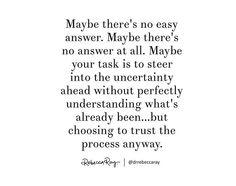 No easy answer