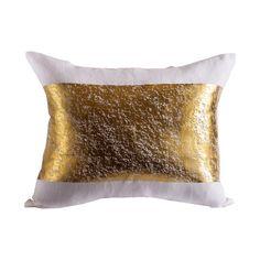 Pyar. Pillow. White and Gold. Decor. Home. Cushion.