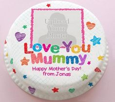 Personalised Cakes For All Occasions - Baker Days Personalised Love You Mum Photo Cake