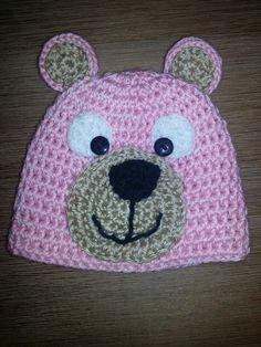 Pink bear hat