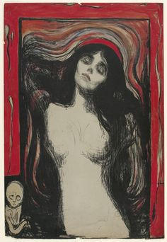 Edvard Munch: Graphic Works from The Gundersen Collection, at Scottish National Gallery of Modern Art, 7 April - 23 September 2012 (Image: Edvard Munch, Madonna)