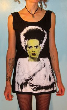 Bride of Frankenstein Mini Dress. Too short for me... I would wear it with black pants.