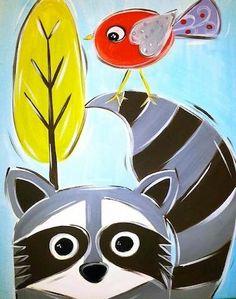 Raccoon- soooo stinkin' cute!!!