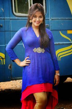 Tamil Telugu Actress Anjali Tight Blue Punjabi Suits