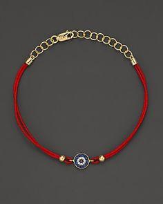 Meira T Diamond, Blue Sapphire And 14K Yellow Gold Evil Eye Bracelet   Bloomingdale's