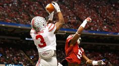 Jan 1, 2015; New Orleans, LA, USA; Ohio State Buckeyes receiver Michael Thomas (3) catches a second ... - Matthew Emmons-USA TODAY Sports