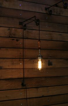 SAVE 15% this week Pulley Wall mount with by IndustrialRewind
