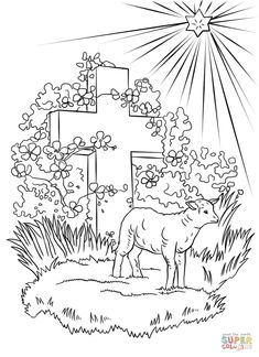 Lamb Of God Coloring Page From Easter Category Select 25565 Printable Crafts Cartoons Nature Animals Bible And Many More