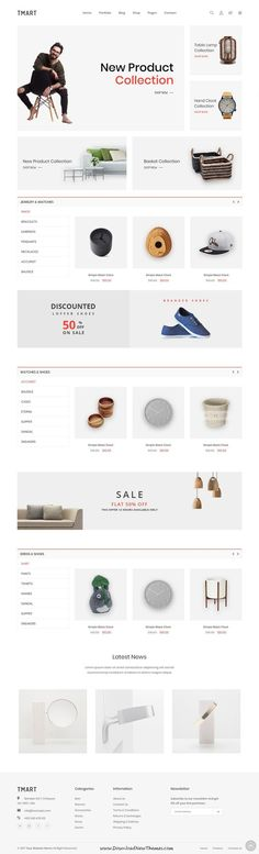 Tmart is clean, minimal and modern design responsive bootstrap template for stunning #onlinestore eCommerce #website with 11 unique homepage #layouts to live preview & download click on Visit  #MobileWebDesign