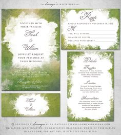 Green-Peridot-Wedding-Invitation-Greenery-Wedding-Invite-Watercolor-Wedding-Invitation-Artistic-Paint-Splatter-Wedding-Invite-by-Soumya's-Invitations