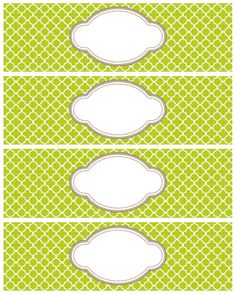 FREE printable quatrefoil pattern labels and tags Printable Labels, Free Printables, Free Label Templates, Labels Free, Blank Labels, Soap Labels, Bottle Labels, Tampons, Planner