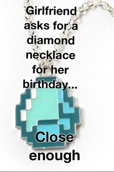 You know what, I'd want this more than a real diamond.