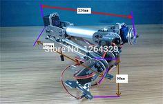 Купить товарПолностью металлический стальная конструкция 6DOF манипулятора a1, С высоким крутящим моментом сервоприводы / управления роботом части для diy, Развития, Промышленные робота чистильщика коготь в категории Запчасти и аксессуарына AliExpress.  Описание продукта:      Название: 6 степенями свободы робот рука A1          Все металлические механическая рука