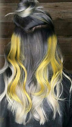 Black blonde yellow dyed hair color @lollypoplocks