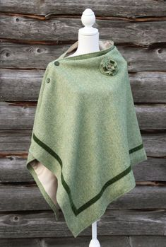 Harris Tweed Apple Green Cape