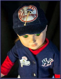 """New York Yankies Base Ball Uniforms - American Girl  or Boy Size Doll Clothes, Outfit for American Girl or American Boy Style 18"""" dolls!"""