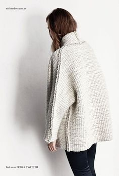 ~inspiration- thick crochet fabric with sl st seams on the outside~ Woven jacket - mishka